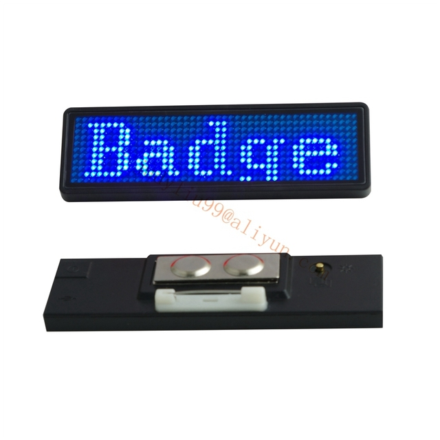 1pc 44x11 Pixels Led Name Tag Rechargeable Led Business Card Screen
