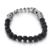 Kalen sorte buda pulseira elo da cadeia do aço inoxidável 316 lava buda charme preto pulseira de miçangas para homens barato acessório presente
