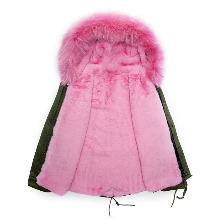 Aliexpress.com : Buy Pink Winter Faux Fur Parka Male Coats for Man ...
