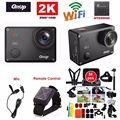 Frete Grátis! Gitup Git2 Pro Gyro Mini Camcorder 16MP 2 K Sports Action Camera DV + Mic + Controle Remoto Control + 38 pcs Acessórios