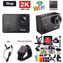 Gitup Git2 Pro 16MP 2 K Spor DV Eylem Kamera Gyro Mini Kamera + Mic + Uzaktan Kumanda + 38 adet Aksesuarları