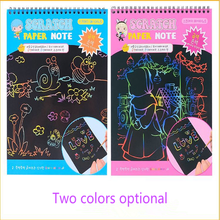 Kids Scratchs Note Toy Funny DIY Drawing Toys For Girl Boy 20x28cm Magic ScratchArt Painting Paper WithDrawing Stick Doodle
