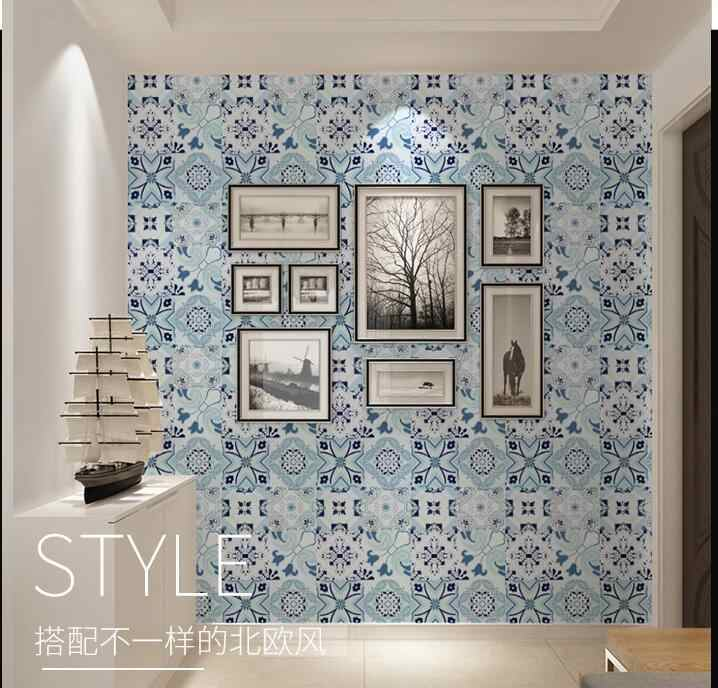 European Waterproof Self Adhesive Wallpaper Bohemia Living Room Bathroom Kitchen Wallpaper Peel And Stick Wallpapers Home Decor Wallpapers Aliexpress