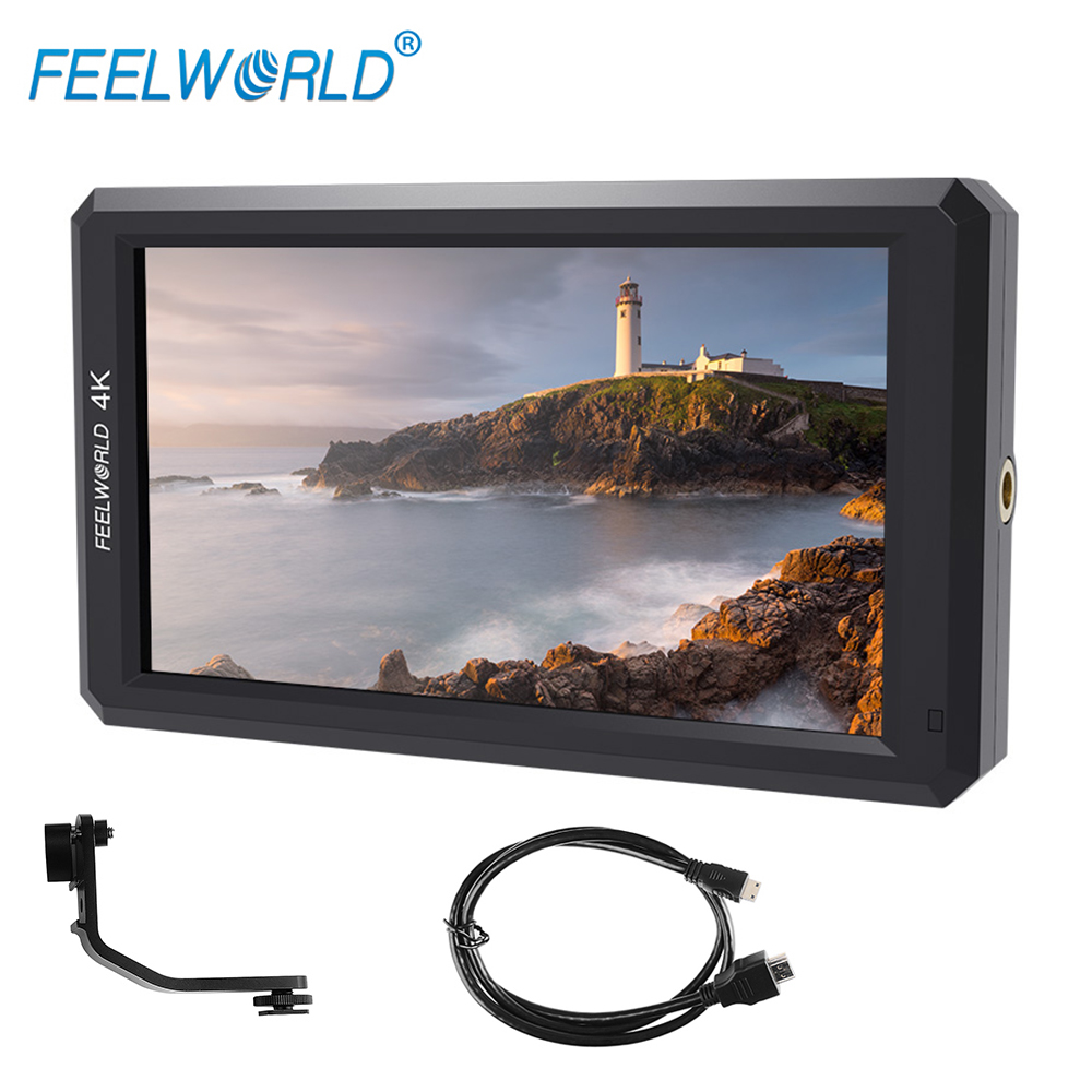 Feelworld Latest F6 5.7'' IPS Support 4K HDMI Input Full HD On-Camera Monitor for Camera/Video Can Power for DSLR or Mirrorless