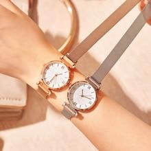 цена на Ladies Quartz Wrist Watches 2019 Fashion Casual Women Magnet Quartz Watch Luxury Crystal Female Clock zegarek damski reloj mujer