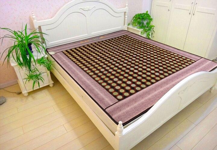 Cuidados de saúde turmalina aquecimento colchão jade térmica elétrica coréia cuidados com o corpo massagem de aquecimento colchão jade Dom Gratuito tampa do olho
