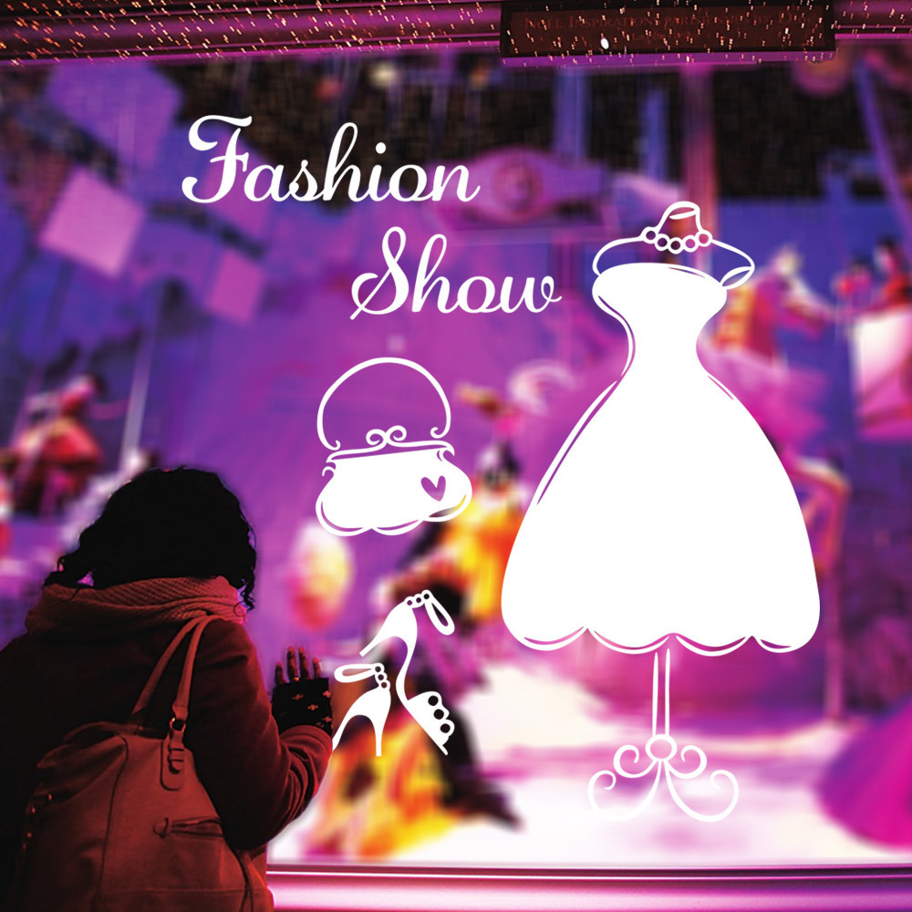Fashion Show Wall Sticker For Bedroom Fitting Room Waterproof