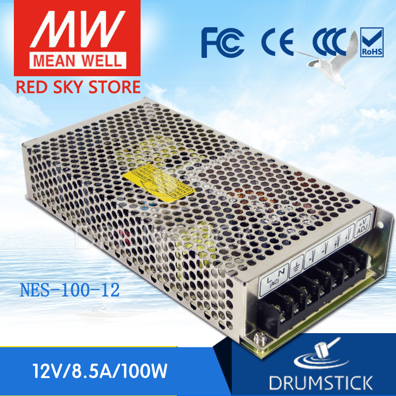 (12.12)MEAN WELL NES-100-12 12V 8.5A meanwell NES-100 102W Single Output Switching Power Supply original mean well nes 350 12 ac to dc single output 350w 29a 12v meanwell power supply nes 350