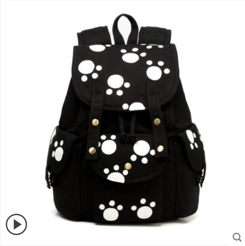 Backpack female high school students canvas backpack Korean version of the simple campus fashion hand-painted backpack 710 39 99usd 9 colours 2017 wholesale korean fashion pu zipper primary secondary school students backpack five pieces 2017121401