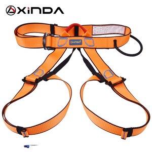 Image 4 - Xinda Professional Outdoor Sports pas bezpieczeństwa wspinaczka skałkowa Outfitting uprząż pas wspierający pół szelki Aerial Survival