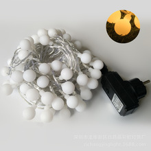 100 led globe bal outdoor indoor led string licht veiligheid dc31v transformator us plug eu stekker, kleurrijke warm wit ip44 waterdicht