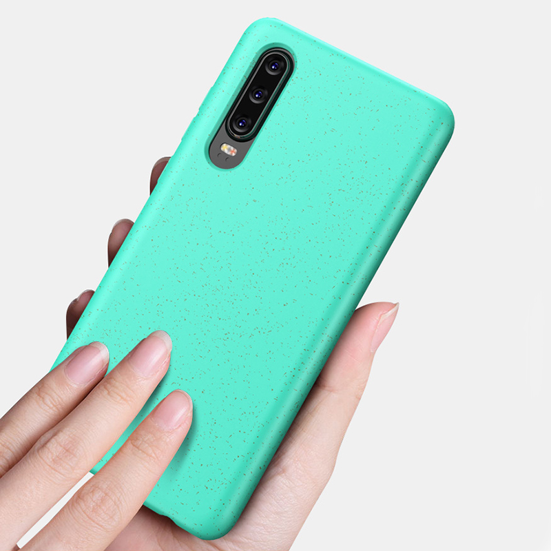 Mayitr Fashion Colorful New Shockproof Soft TPU Wheat Straw Matte Phone Case Back Cover for Huawei P30 Pro Lite Capa Fundas