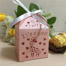 laser cut wedding favor candy box personalized