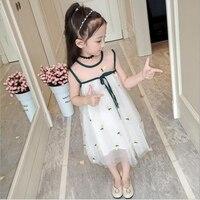 Dress Girls summer 2019 new children's fashion sleeveless fluffy princess dress