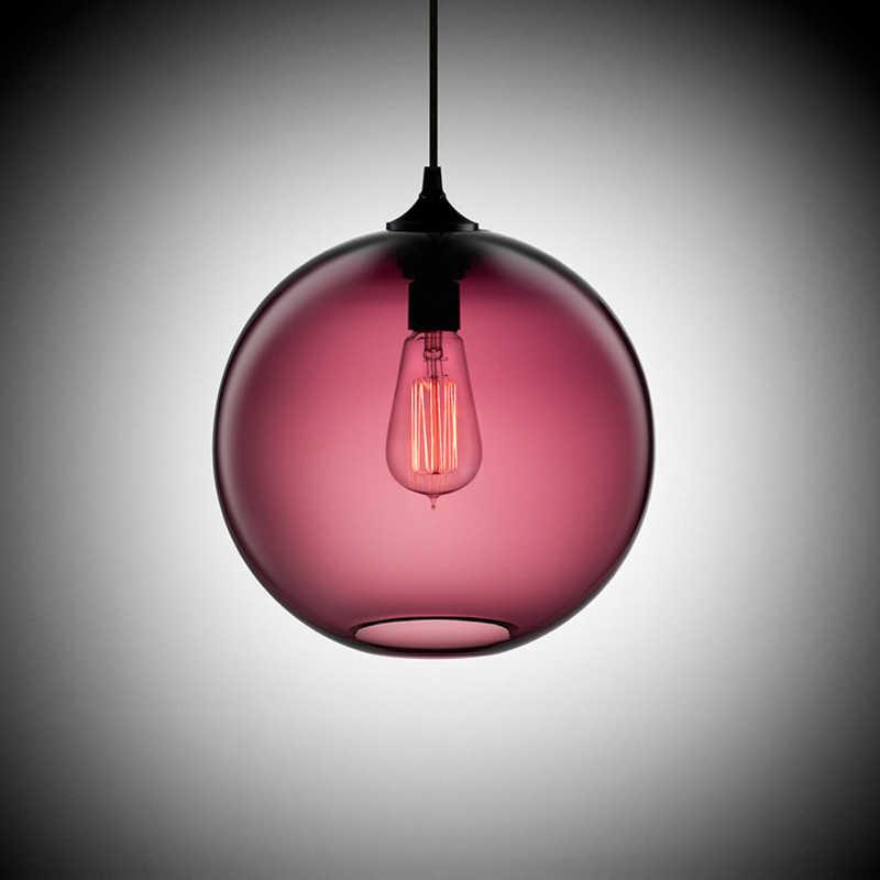 Лофт винтажная антикварная промышленная 6 цветов стеклянная подвесная люстра в форме шара, Светильники для кухни, ресторана, столовой/гостиной, кафе-бара