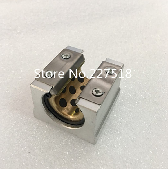 4pcs high quality SBR25UU Graphite copper sleeve <font><b>Linear</b></font> motion ball bearing slide block match <font><b>SBR25</b></font> 25mm <font><b>linear</b></font> guide <font><b>rail</b></font> image