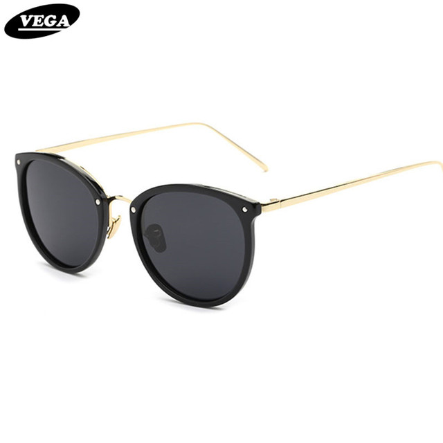 VEGA  Oval Vintage Goggles Women Men Fashion Polarized Sunglasses For Ladies Party Glasses For Small Face 0759