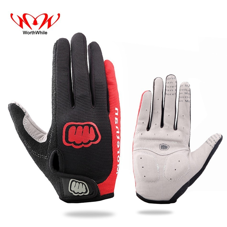 WorthWhile Bike Cycling Gloves Full Finger Outdoor Sports Wi