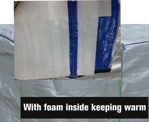 Image 3 - protect your spa cover now, 245cmx246cnx90cm, with isolation good for winter hot tub cover cap and spa cover guard