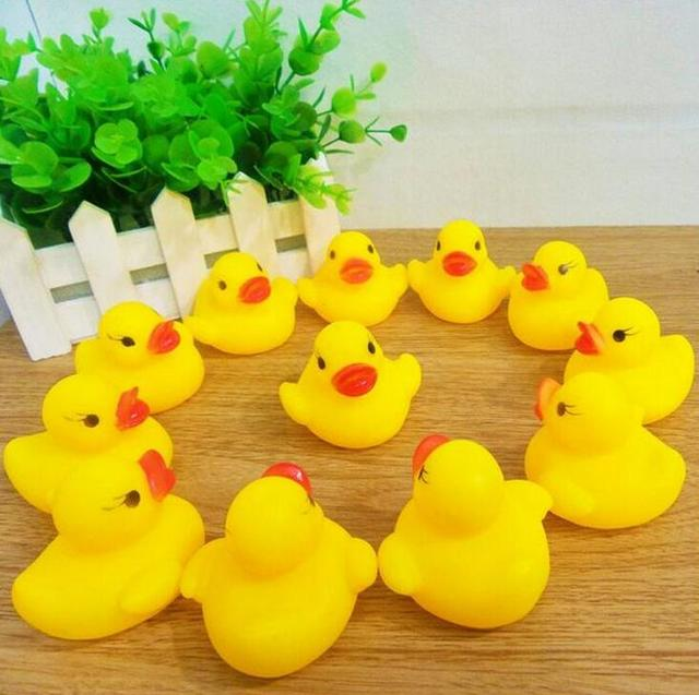 12 Pcs Set Rubber Duck Duckie Baby Shower Water Birthday Favors Gift