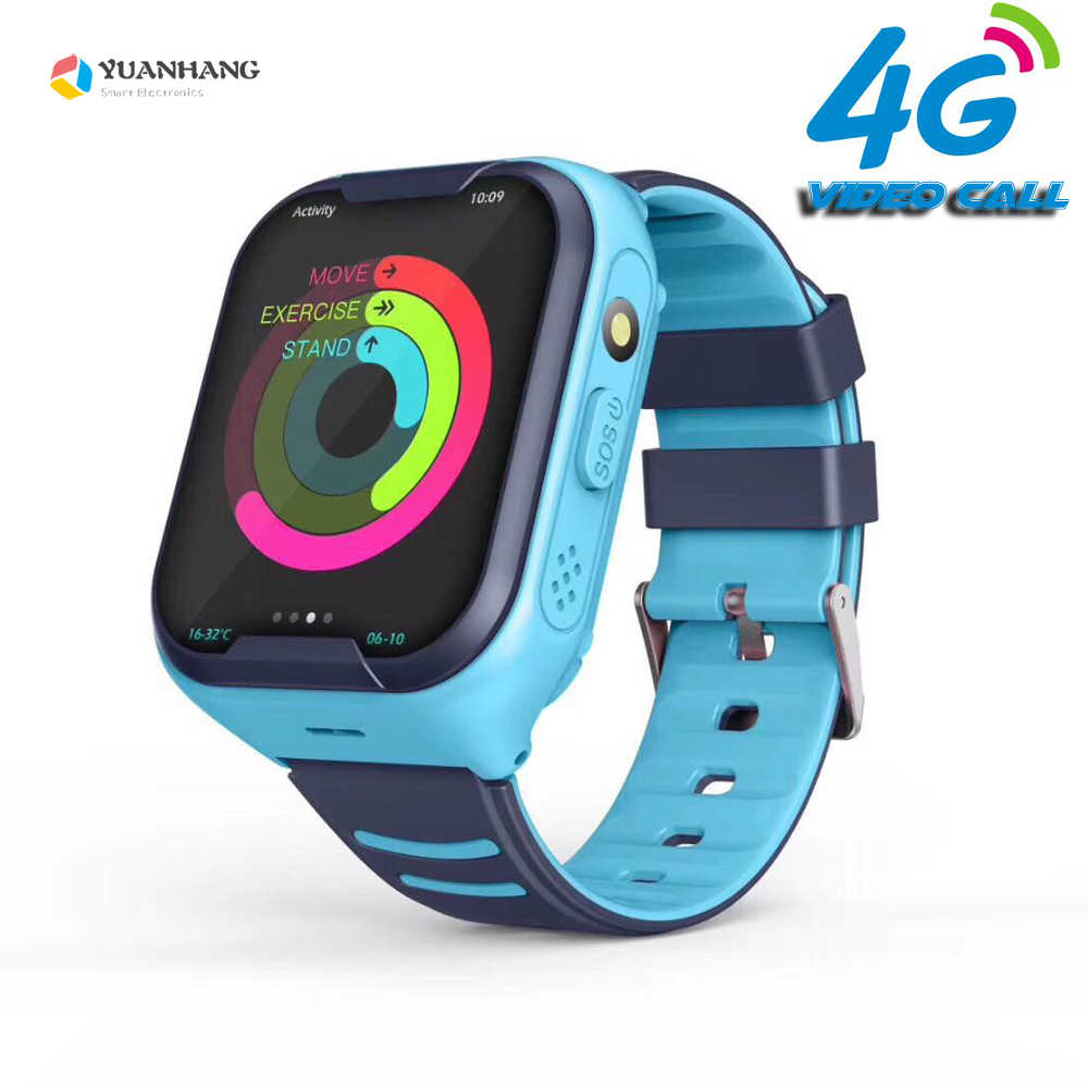 IPX7 Waterdichte Smart 4G Remote Camera Gps Wifi Kids Kinderen Studenten Smartwatch Sos Video Call Monitor Tracker Locatie Horloge