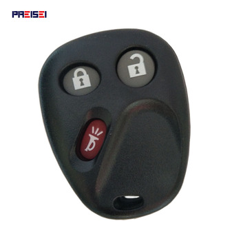 PREISEI 3 Buttons Replacement Keyless Remote FOB Case For BUICK GMC CADILLA CHEVROLET OLDSMOBILE PONTIAC New Car Key Shell image
