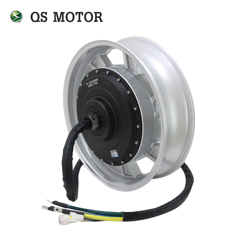 17inch 14kW 273 80H V3 Water Cooled Electric Motorcycle Hub Motor