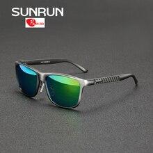 SUNRUN Aluminium Magnesium Männer Polarisierte Sonnenbrille Mirrored Sonnenbrille Markendesign gafas de sol 8587