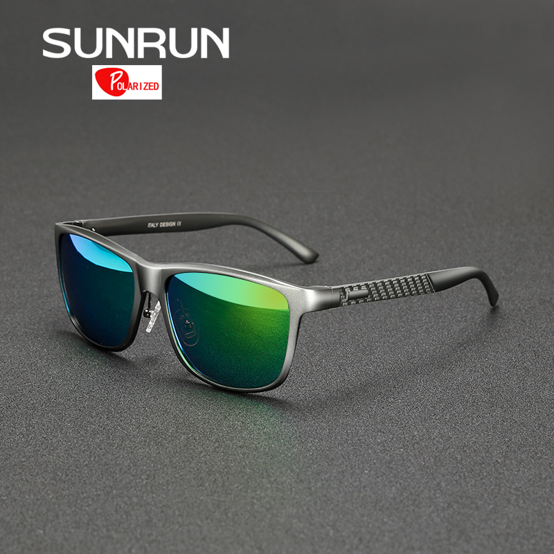01a4c73830dc5 SUNRUN Aluminum Magnesium Men Polarized Sunglasses Mirrored Sun ...