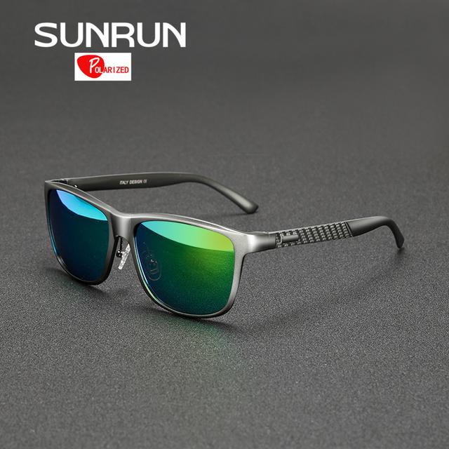 SUNRUN Diseño De Aluminio Y Magnesio Hombres gafas de Sol Polarizadas Espejo Gafas de Sol de Marca gafas de sol 8587