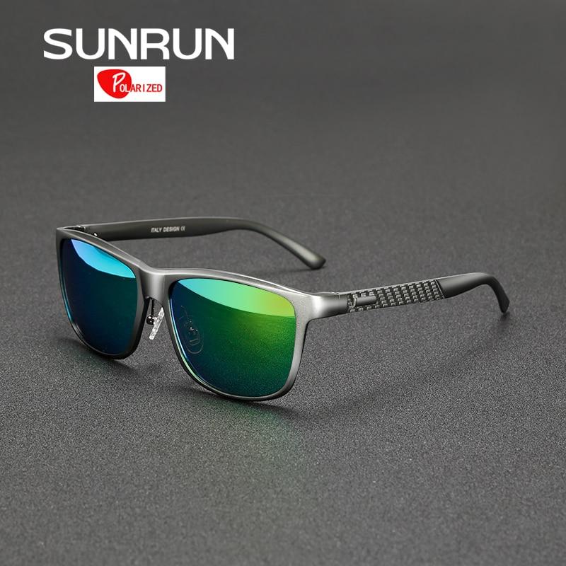 SUNRUN En Aluminium Magnésium Hommes lunettes de Soleil Polarisées Miroir Lunettes de Soleil Brand Design Homme Conduite Lunettes lunettes de soleil 8587
