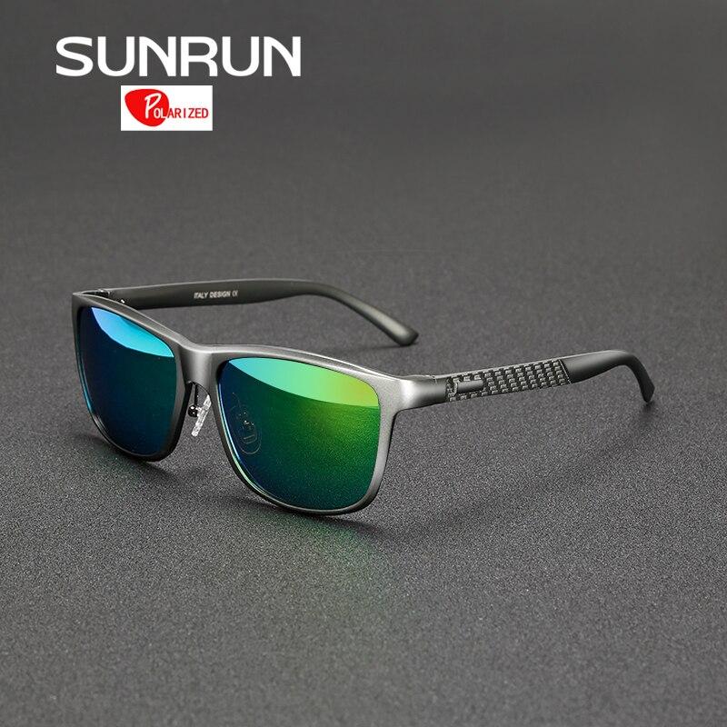 SUNRUN Homens De Alumínio E Magnésio Polarizada Óculos De Sol Espelhado  Óculos de Sol de Design Da Marca Masculina Condução Óculos de sol gafas de  sol 8587 d234e6d4cb