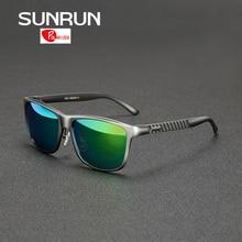 SUNRUN Aluminum Magnesium Men Polarized Sunglasses Mirrored Sun Glasses Brand Design Male Driving Glasses gafas de sol 8587