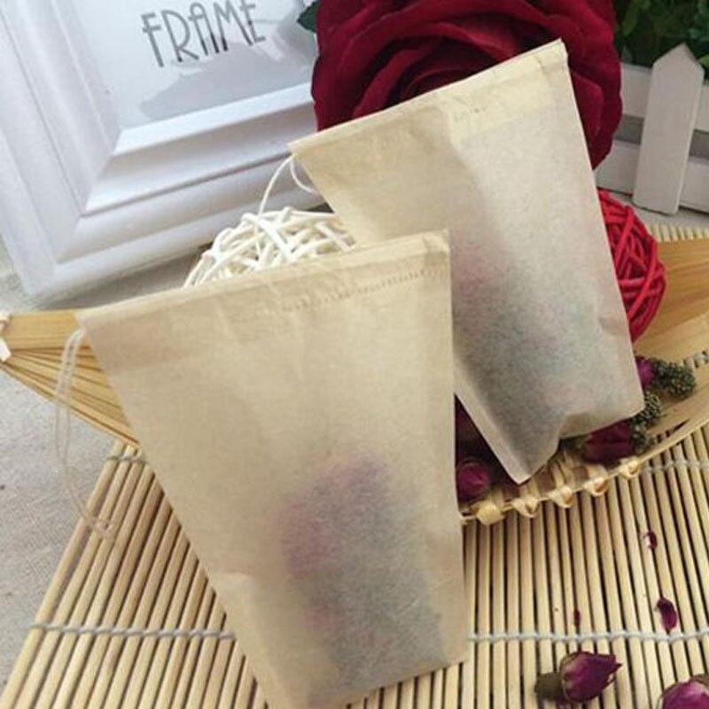 80 X 100mm wood pulp color Filter paper, Brown color tea filters, Single drawstring tea bag, no bleach, disposable ZA5677