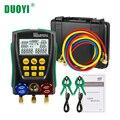 DUOYI DY517A цифровой коллектор хладагент холодной средней инспекции холодильное HVAC вакуумный тестер давления <font><b>PK</b></font> Testo