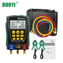 DUOYI DY517A цифровой коллектор хладагента холодной Средний инспекции холодильное HVAC вакуумный давление температура тестер PK Testo