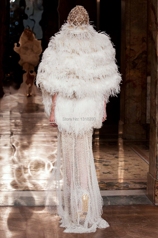 b103 rel lgant femmes plume dautruche manches longues fourrure bolro bolro veste wrap - Bolero Plume Mariage