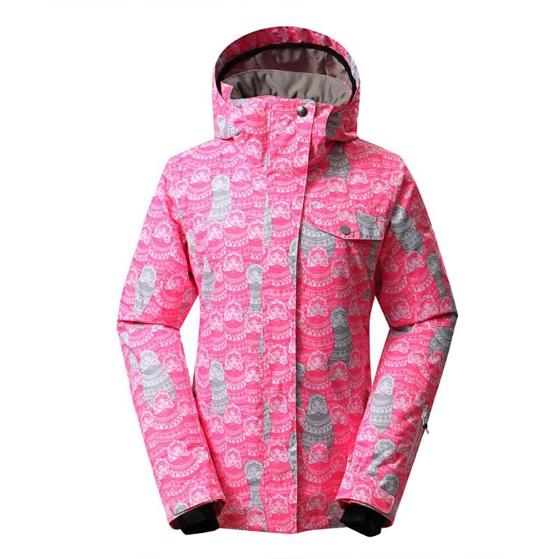 GSOU SNOW Women's Ski Suit Outdoor Windproof Warm Waterproof Breathable Single Double Board Ski Jacket For Women Size XS-L недорого