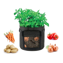 Vegetable Plant Grow Bag PE Cloth Planting Container Bag Potato Grow Planter Tomato Planting Container Bag Home Garden Tool udtbz 2 multifunctional 2 row potato seeding sowing planting machine potato planter