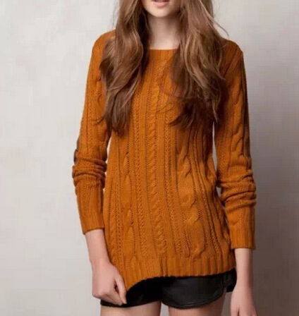 SW491 New Fashion Ladies' elegant elbow Patch Knitted Pullovers knitwear long sleeve sweater stylish Casual Slim brand Tops