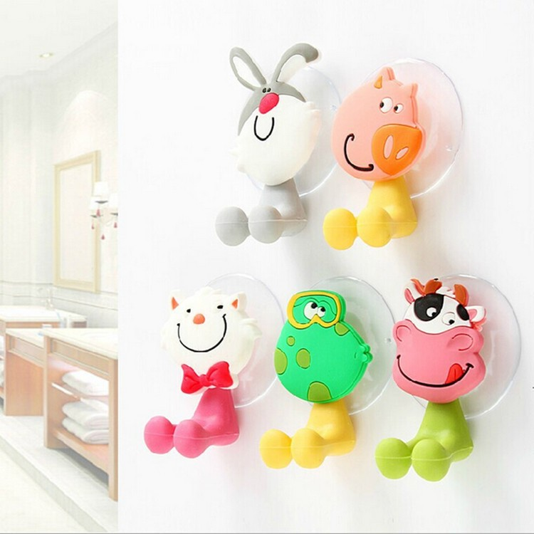 Hello Kitty Cartoon Suction Cup Toothbrush Holder Eco-Friendly