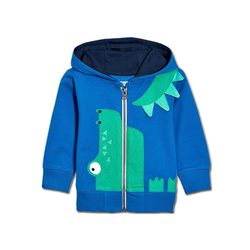 Tem Doger Children Boy Spring Autumn Clothing Sweatshirts Long Sleeve Zipper Cartoon Crocodile Hoodies Coat Kids Toddler Outfits