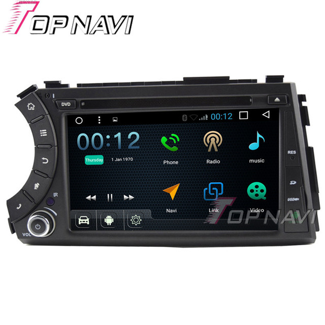 "Topnavi 7"" 1024*600 Quad Core Android 6.0 Car DVD multimedia Player for Ssangyong Kyron Autoradio GPS Navigation Audio Stereo"