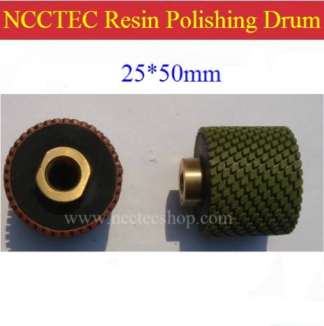 ФОТО 1'' NCCTEC Diamond polishing resin drum wheels | 25*50mm Cylindrical polishing buffing pad | FREE shipping