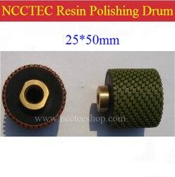 1 NCCTEC Diamond polishing resin drum wheels | 25*50mm Cylindrical polishing buffing pad | FREE shipping
