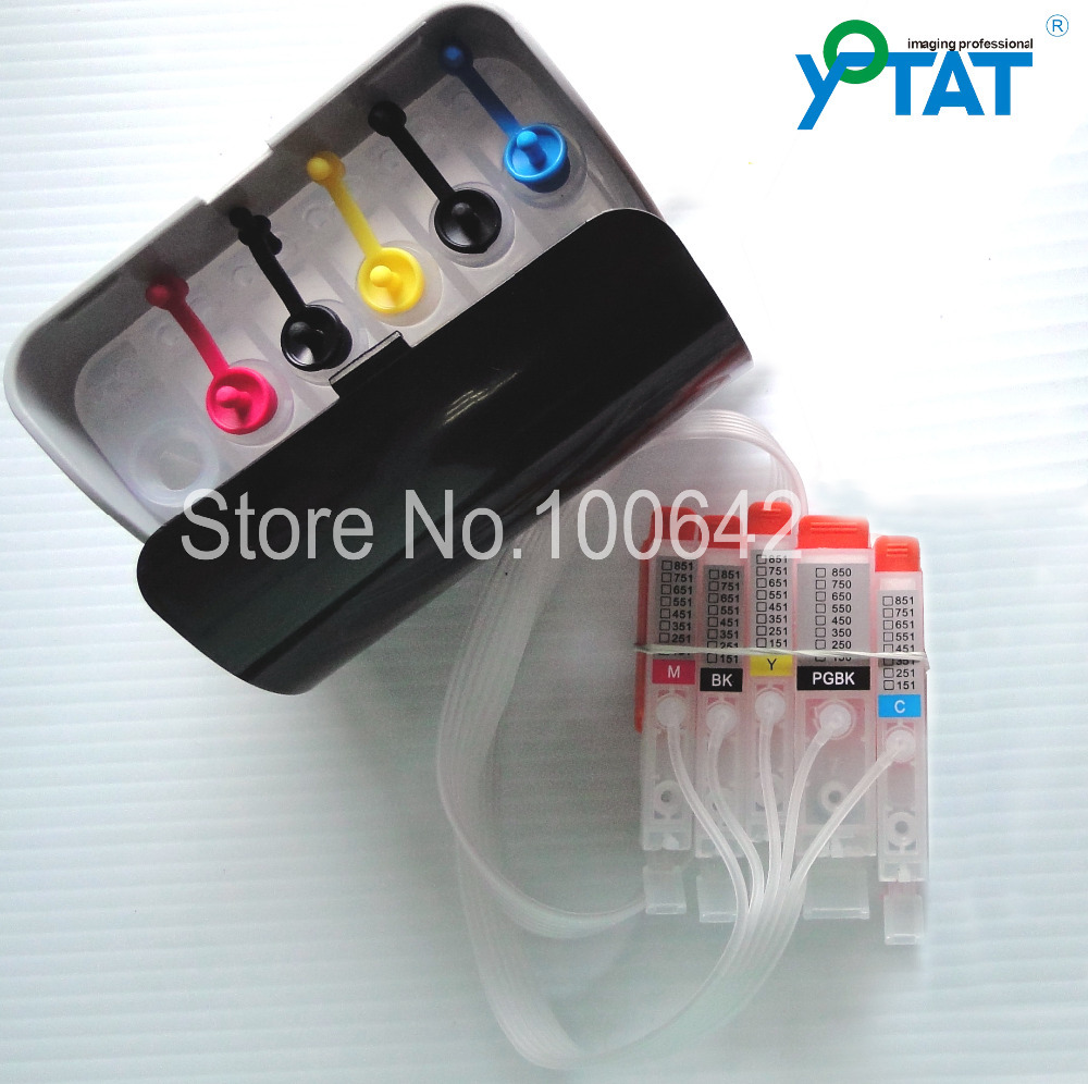 YOTAT 5 color CISS PGI-550 CLI-551 PGI550 for Canon PIXMA IP7250 MG6350 MG5450 MX925 MG7150 MG6450 MG5550 printer empty ciss for canon pgi 650 bk cli 651 kcmyg ciss for canon pixma mg6360