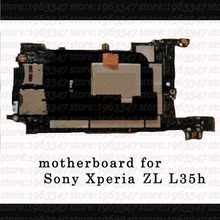 100%  original mainboard For Sony Xperia ZL L35h Motherboard EU Version Unlocked with chip Logic Board