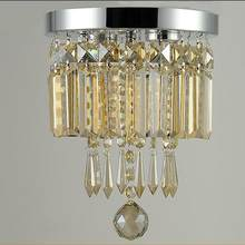 Round Crystal Modern Gold Crystal Chandelier For Dining Room Crystal Chandelier Aisle Rustic Light Fixture(China)