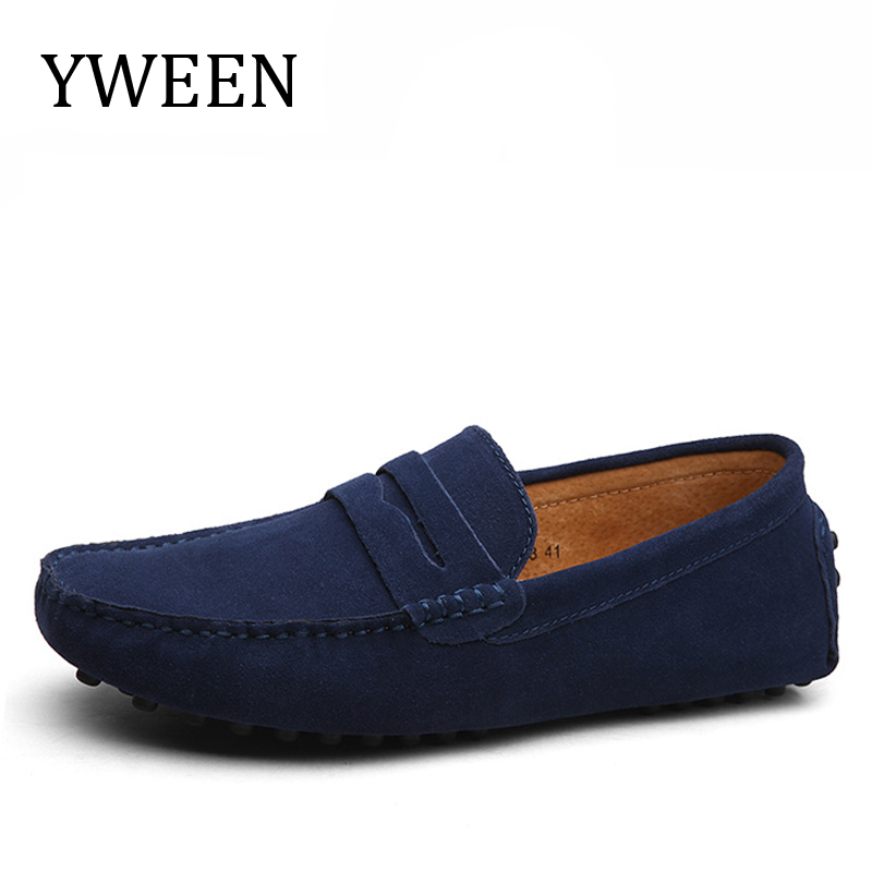 YWEEN Casual Driving Shoes Split Leather Loafers Handmade Men Moccasins Flats big size 38-49 simple wooden glass ball table lamps creative warm night light bedroom bedside table light decorative home lighting lamp za mz88