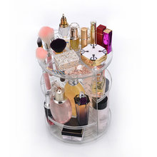 Clear Makeup Organizer Rotatable Cosmetic Jewelry Storage Holder for Lipsticks Eyeshadow Nail Polish WH998(China)